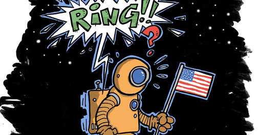 austronaut i rymden